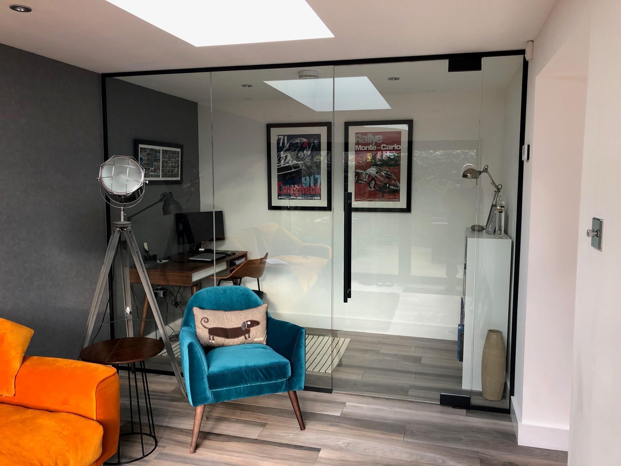single glazed partition
